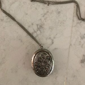 Jewelry - Antique Inspired Silver Locket Necklace